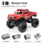 Building blocks assembled electric remote control off-road vehicle
